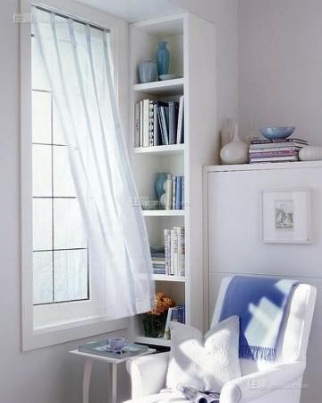 迷你可爱小窗台也能挤出阳光读书角(图11)
